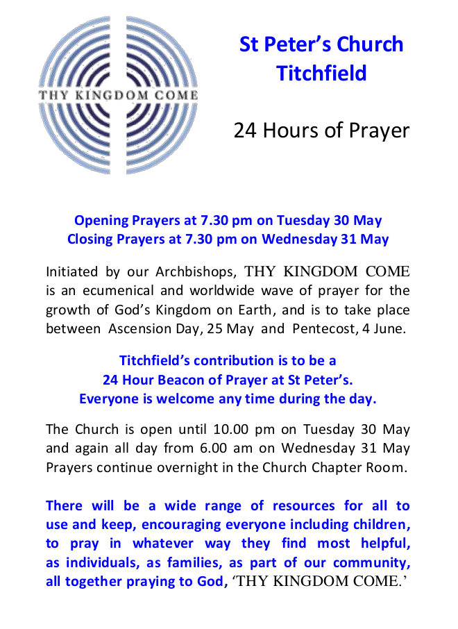 24 hours of prayer poster